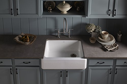 Self Trimming Farmhouse Sink : ... Self-Trimming Apron Front Single Basin Kitchen Sink with Tall Apron