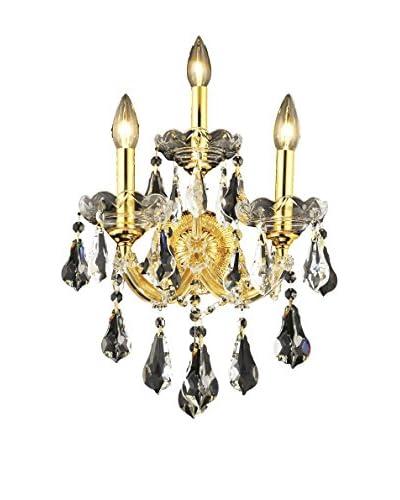 Crystal Lighting Maria Theresa 3-Light Wall Sconce, Gold