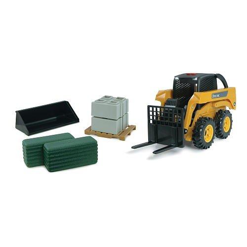 tomy-john-deere-42992-vehicule-miniature-modele-a-lechelle-pack-chargeuse-compacte-tomy-john-deere-e