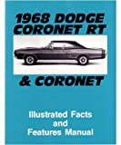 1968 DODGE CORONET Facts Features Sales Brochure Book