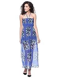 Wisstler Women's Multicolor Poly Chiffon Maxi Dress Size - Medium