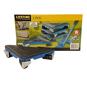 Lifetime tools 34036 d place meubles roulant 5 pi ces bricolage - Outil pour deplacer meuble ...