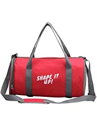 BOLSO Gym Bag (RED) Branded Premium Quality Carry On Sports Travel Duffel Bags With Shoulder Strap, Zippered Shoe...