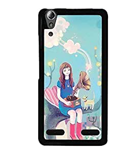 Printvisa Fairy On A Tree With A Gramophone Back Case Cover for Lenovo A6000
