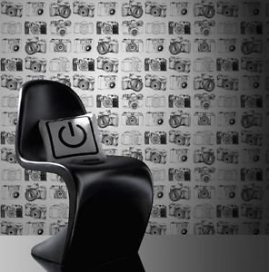 Fresco Camera Wallpaper - Black and White from New A-Brend