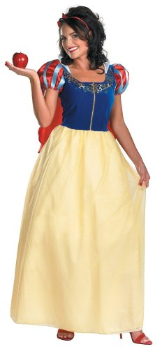 Disguise Women's Disney Snow White Deluxe Costume, Yellow/Red/Blue, Large