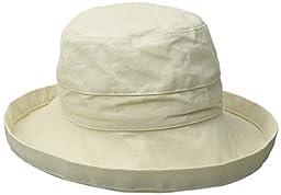 Scala Women\'s Medium Brim Cotton Hat, Natural, One Size