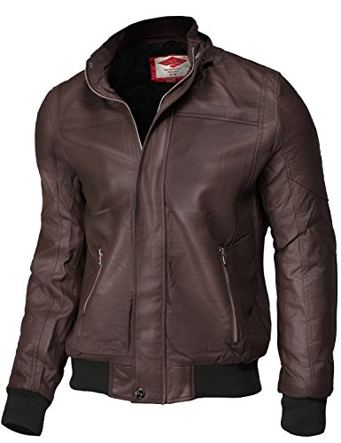 Removable Hoodie Waist Length Motorcycle Faux Leather Jackets