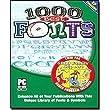 COSMI 1000 Best Fonts/4000 Family Clip Art Twin Pak (Windows)