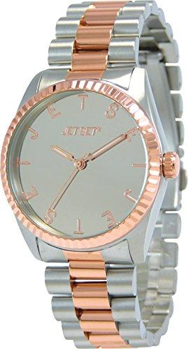 Jet Set 15228 J62506-652 - Reloj para mujeres, correa de acero inoxidable