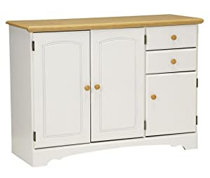 New Visions by Lane 394-142 Kitchen Buffet, White and Maple