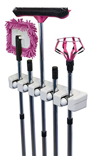 DADOTOOL Mop, Broom, Tool & Sports Equipment Holder & Organizer; Wall Mounting Rack Shelf Stand; Hang Coats & Clothes; Ideal for Metal Handles, Garage, Garden Shed, Basement, Home & Kitchen Closet; Get Organized Today, 100% MONEY BACK GUARANTEE
