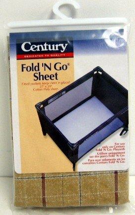 Century Fold 'N Go Playard Sheet Merlot Plaid front-898824