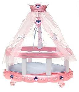 Princess alexa crib with sheer canopy mobile for Princess crib mobile