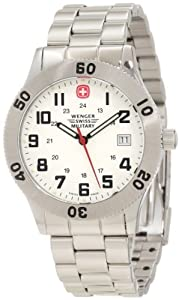Wenger Swiss Military Men's 62970 Grenadier Brushed Stainless-Steel Analog Watch and Swiss Army Knife Gift Set