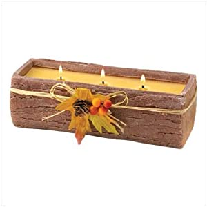 Triple Wick Bark Wax Candle Scented Wood Spice Scent