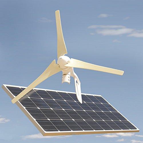 Gec Solar Panel Wind Turbine Combo - Off The Grid - 150 W Solar Panel & 400 W Wind Turbine
