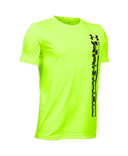 Under Armour Boys' Sideline Logo T-Shirt, Fuel Green (363), Youth X-Large