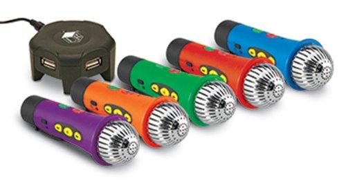 Easi Speak Microphone Bundle; 5 Color Set With Charging Hub; No. Ler4402
