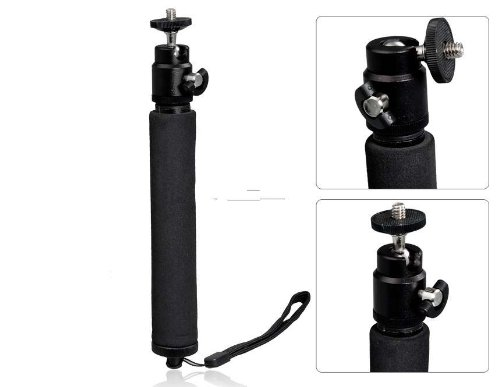 Telescoping Extendable Pole Handheld Monopod With Tripod For Gopro Hero 2/ 3 (Black) Produced By Ysk
