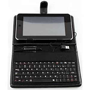 SANOXY Slim 7 Inch Faux Leather Keyboard Case for Tabletpc Epad Apad MID Laptop Notebook Usb2.0 Stylus Stand 