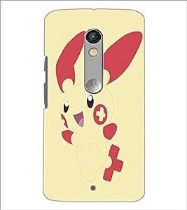 Printdhaba Bunny D-5145 Back Case Cover For Motorola Moto X Play