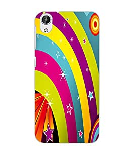 HTC DESIRE 626 S RAINBOW Back Cover by PRINTSWAG
