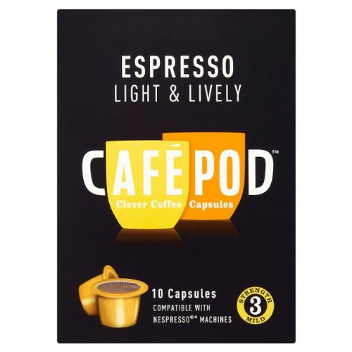 Buy CafePod Nespresso Compatible Light Coffee Capsules 10 per pack from Cafepod