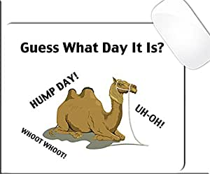 Amazon.com : Guess What Day It Is? Hump Day! Funny Camel Mouse Pad (SQUARE) :...