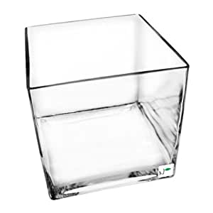 Nature's Pure Series Seamless Glass Cube Aquarium 6x6x6 in. - .5 Gallons