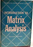img - for Introduction to Matrix Analysis book / textbook / text book