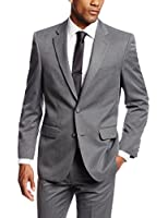 Haggar Men's Gabardine Tailored-Fit Two-Button Side-Vent Suit-Separate Jacket