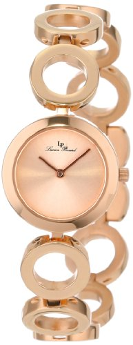 Lucien Piccard Women's LP-100007-RG-99  Rose Gold Tone Dial Rose Gold Tone Ion-Plated Stainless Steel Watch