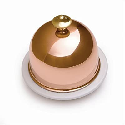 Mauviel M'Tradition 4260.00 Porcelain Butter Dish with Copper Lid