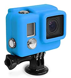 XSories Silicone Cover for GoPro Hero 3+ and 4 Cameras Housing Protection And Increased Battery Life (Process Blue)