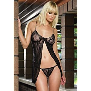 Valentine's Day 2PC Romantic Lace Babydoll Sexy Lingerie Intimate Apparel with G-String