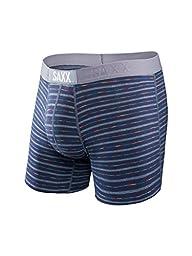 Saxx Mens Vibe Modern Fit Lifestyle Boxers Underwear Medium Cobalt Gradient Stripe