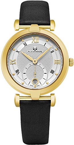 alexander-monarch-olympias-date-silver-large-face-stainless-steel-plated-yellow-gold-watch-for-women