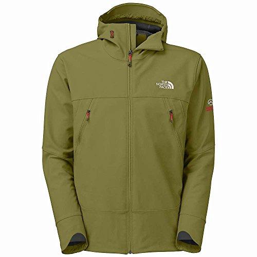 The North Face Summit Series Jet Hooded Softshell Jacket - Men'S G.I. Green/Asphalt Grey Small