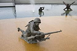 Beach Landing Tableau, National D-Day Memorial in Virginia - Moving 16x20-inch Photographic Print by Carol M. Highsmith