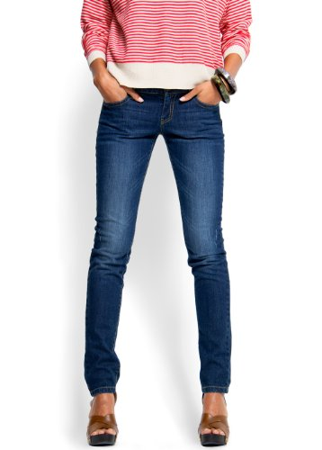Mango Women's Low Waist Skinny Jeans, 7, Dark Denim
