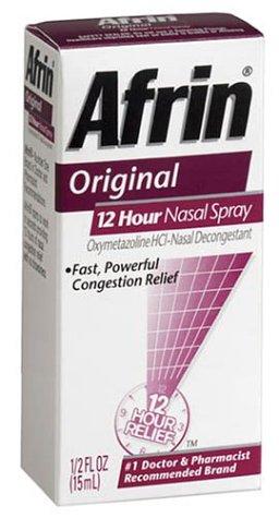 Afrin 12 Hour Decongestant Nasal Spray Original 5 fl oz