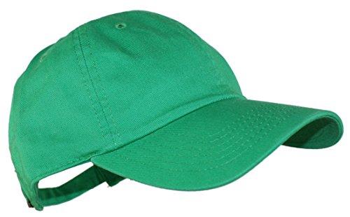 Modern Minute - Simple Solid Adjustable Baseball Cap In Kelly Green