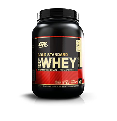 Optimum Nutrition 100% Whey Gold Standard, Vanilla Ice Cream, 2 Pound (On Whey Protein Vanilla Ice Cream compare prices)