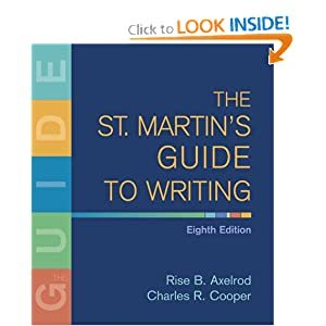 The St. Martin's Guide to Writing - Rise B. Axelrod