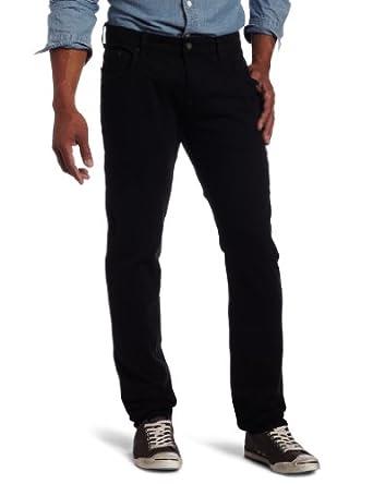 Mavi Men's Daniel Lowrise Skinny Leg Jean, Black Comfort, 28x32