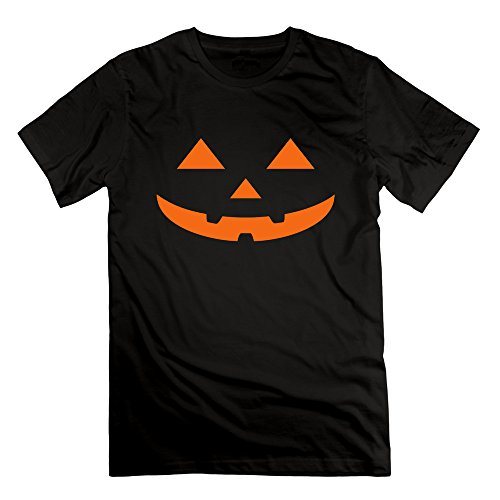 Men's Pumpkin Short Sleeve T-Shirt Black L (Cartman Voice Changer)