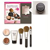 LIGHT BareMinerals 8-Piece Get Started Kit - Set includes: 1x Original Mineral Veil, 1x Warmth All Over Face Colour, 1x Full Flawless Face Brush, 1x Flawless Application Face Brush, 1x Maximum Coverage Concealer Brush, 1x Prime Time Foundation Primer, 1x