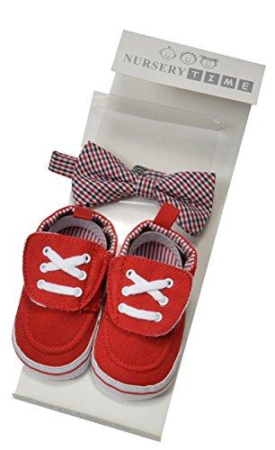 ORIGINMENSWEAR, Stivaletti bambini rosso UK 6-12 Months