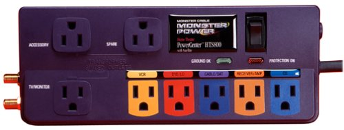 Monster Cable MP HTS800 Home Theater PowerCenter HTS800 With Coax Protection